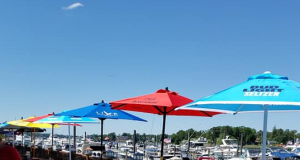 Outdoor dining set up at River Rock in Brick, June 15, 2020. (Supplied Photo)