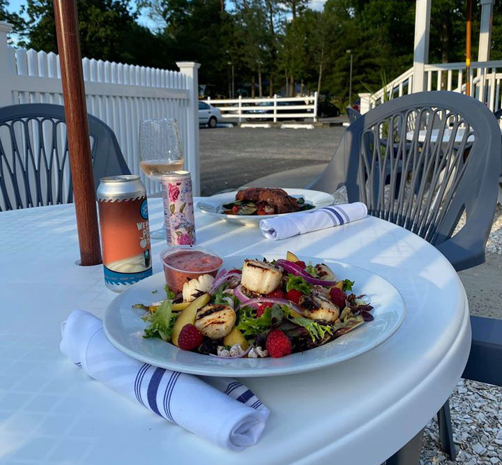 Outdoor dining set up at WIndward Tavern in Brick, June 15, 2020. (Supplied Photo)
