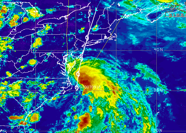 Tropical storm Fay becomes earliest sixth-named storm on record