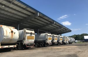 Public Works trucks at the Brick Public Works facility on Ridge Road. (Photo: Daniel Nee)