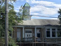 The Laurelton School building, Brick, N.J., Aug. 2020. (Photo: Daniel Nee)