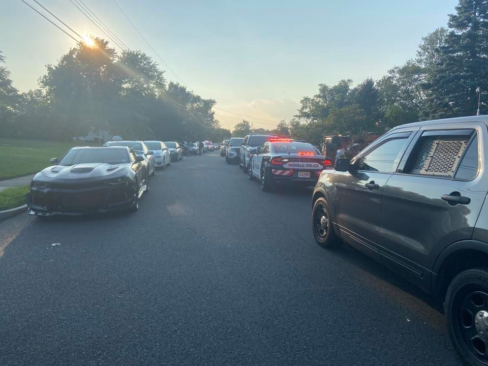 Police respond to a 300-person party in Howell, Aug. 9, 2020. (Photo: Howell Police)