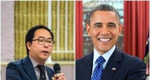Andy Kim (Photo: Daniel Nee) and President Barack Obama (Credit: White House)