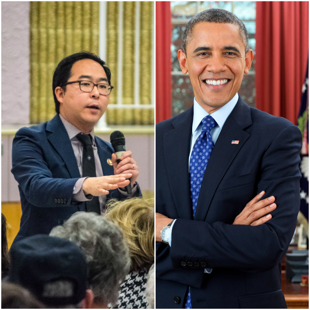 Andy Kim (Photo: Daniel Nee) and President Barack Obama (Credit: White House)