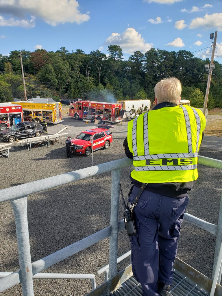 Brick first responders and those from neighboring towns carry out the Operation Chaos training exercise, Oct. 2020. (Photo: Brick Twp. Police)