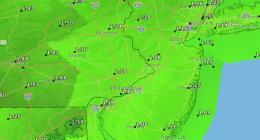 Rainfall predicted for Monday, Nov. 30, 2020. (Credit: NWS)