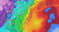 Wind gusts measured in knots that are expected Monday afternoon. (Credit: NWS)
