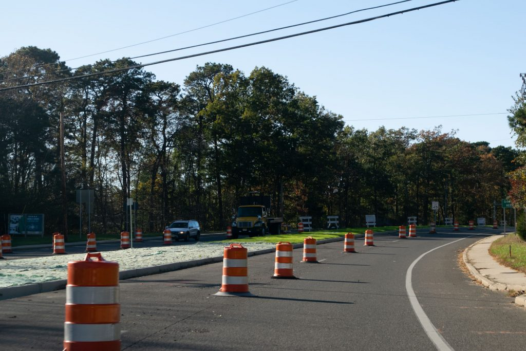 Construction on Burnt Tavern Road in Brick Township, Nov. 2020. (Photo: Daniel Nee)