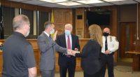 Ptl. John Sullivan is sworn in. (Photo: Brick Twp. Police)