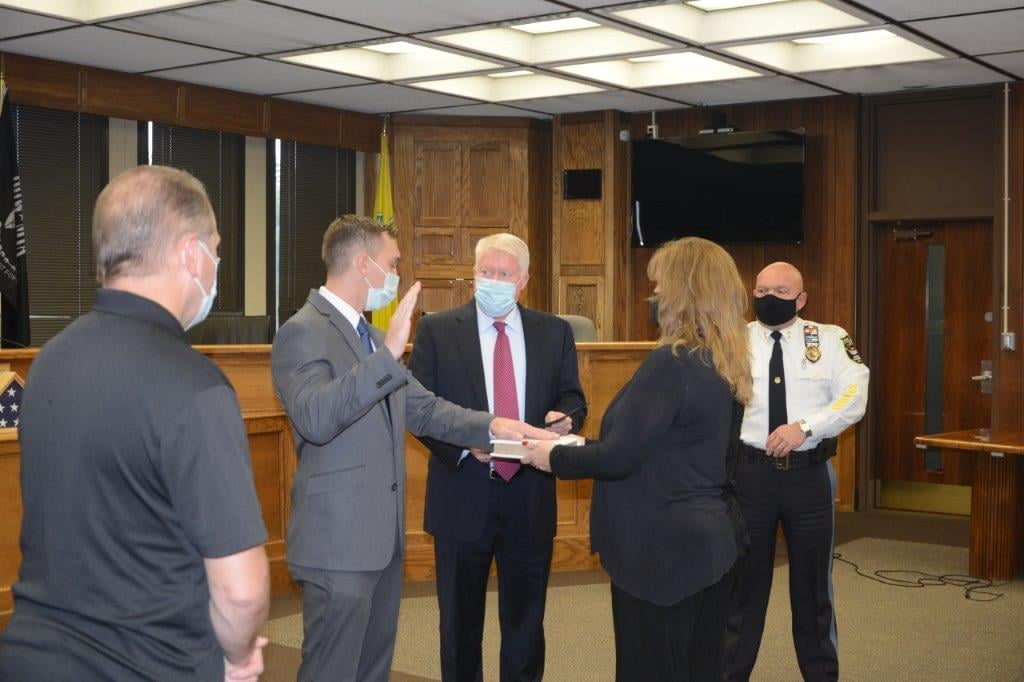 Ptl. John Sullivan is sworn in. (Photo: Brick Twp. Police)