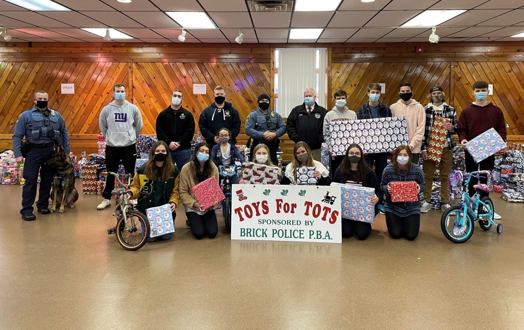 Brick PBA Local 230 organized its annual toy drive for 2020. (Photo: Brick Township)