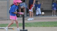 Girls' t-ball. (Credit: Dan Morgan/ Flickr)