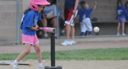 Girls' t-ball. (Credit: Dan Morgan/ Flickr)