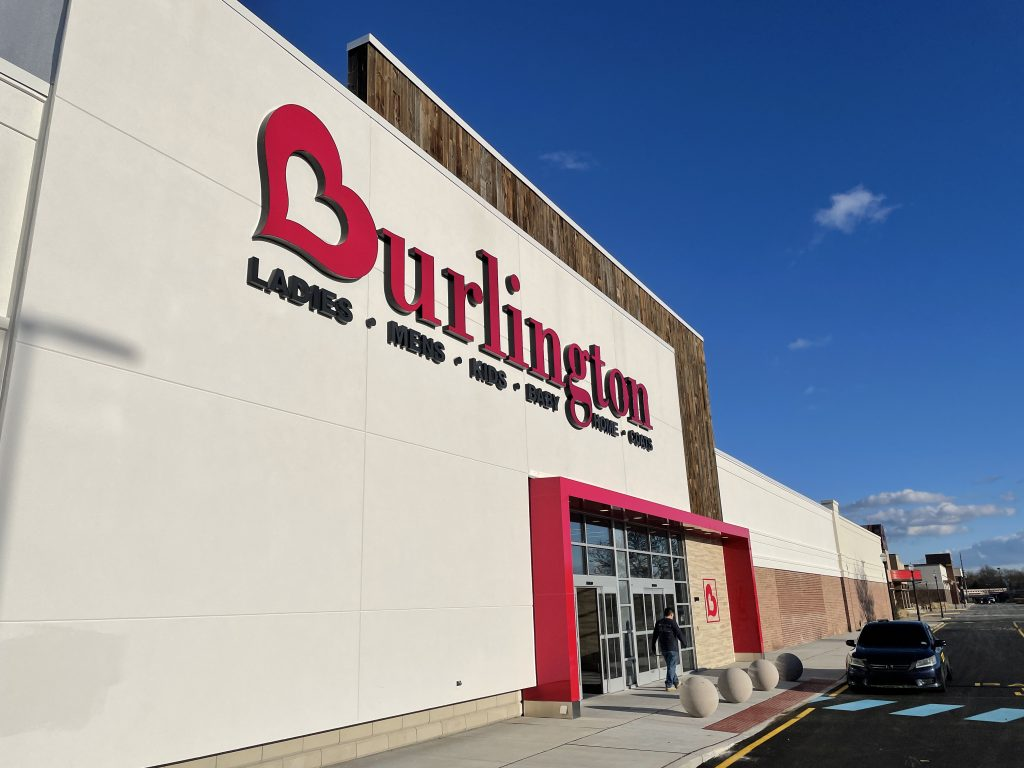 Clothing store Burlington's new location at Brick Plaza, Jan. 2021. (Photo: Daniel Nee)