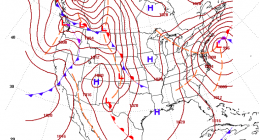 A low pressure system forecast off the coast, Feb. 1, 2021. (Credit: NWS)