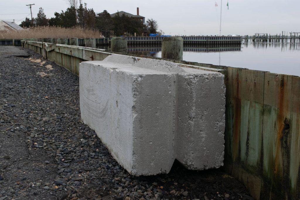 The bulkhead along Rochester Drive, Brick, N.J., Jan. 2021. (Photo: Daniel Nee)