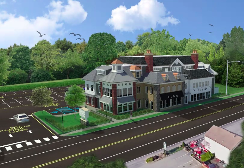 A rendering of plans for 627 Mantoloking Road. (Screenshot: Daniel Nee)