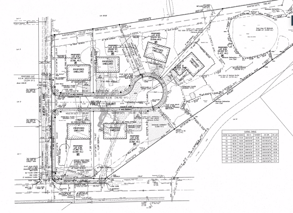 The location of the proposed Hooper Avenue Estates project in Brick, Feb. 2021. (Photo: Daniel Nee)