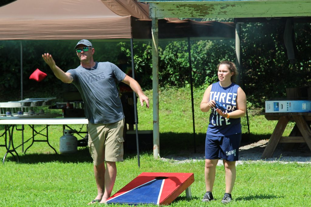 A cornhole game. (Credit:  daveynin/ Flickr)