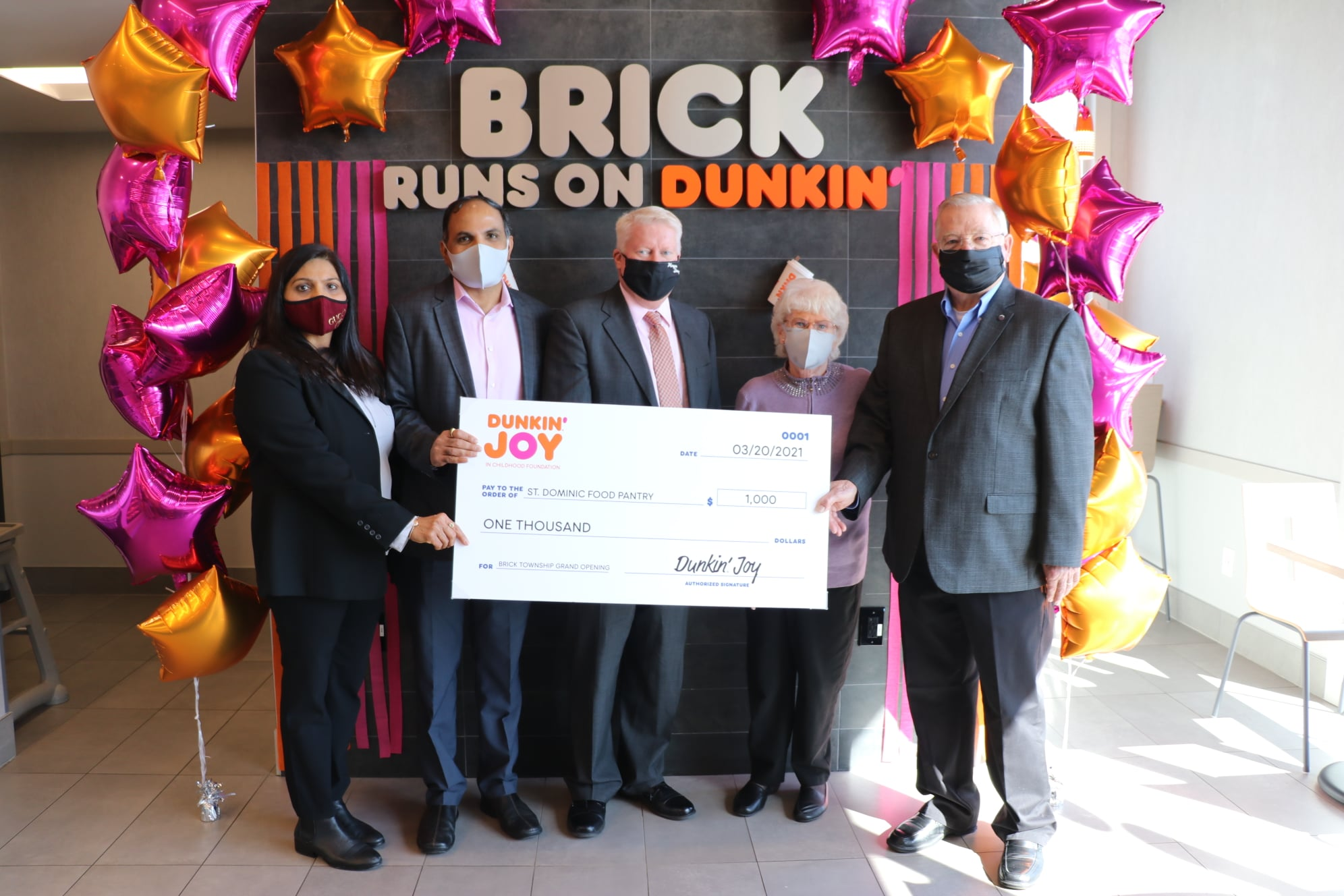 A new Dunkin' Donuts store opens in Brick, March 21, 2021. (Photo: Township of Brick)