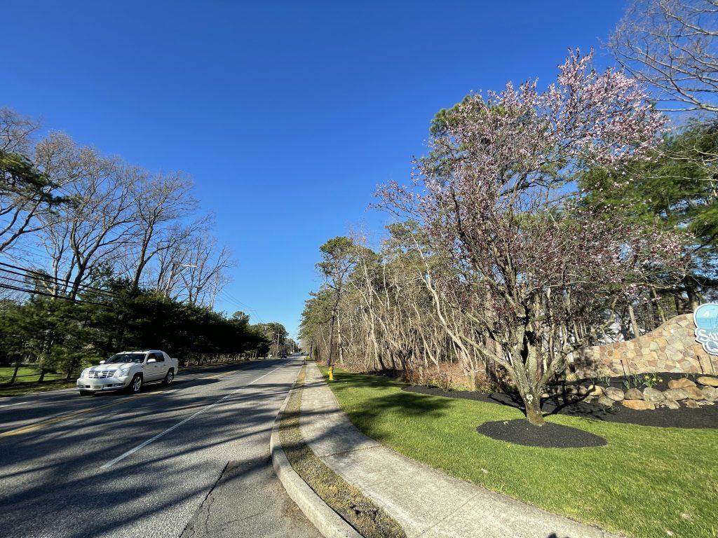 The planned site of the Osprey Pointe development along Old Hooper Avenue, Brick, N.J., April 2021. (Photo: Daniel Nee)
