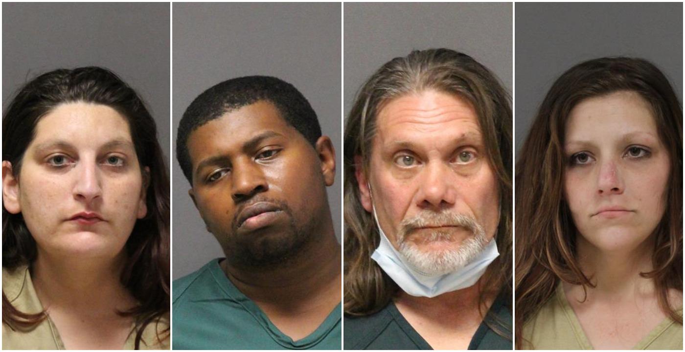 Shayna Palmieri, D'andre Tubbs, Steven Weber and Alysia Wojceichowski. (Photos: Ocean County Jail)