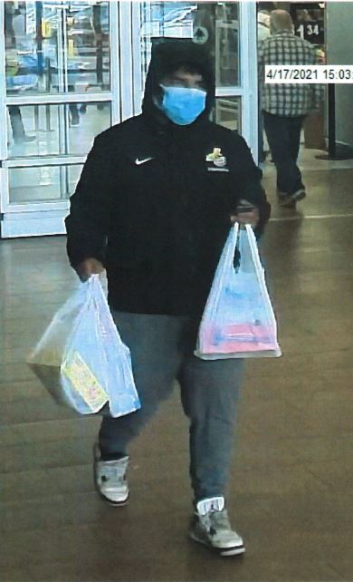 A photograph of a man whose identity is being sought by Brick police, May 2021. (Photo: Brick Twp. Police)