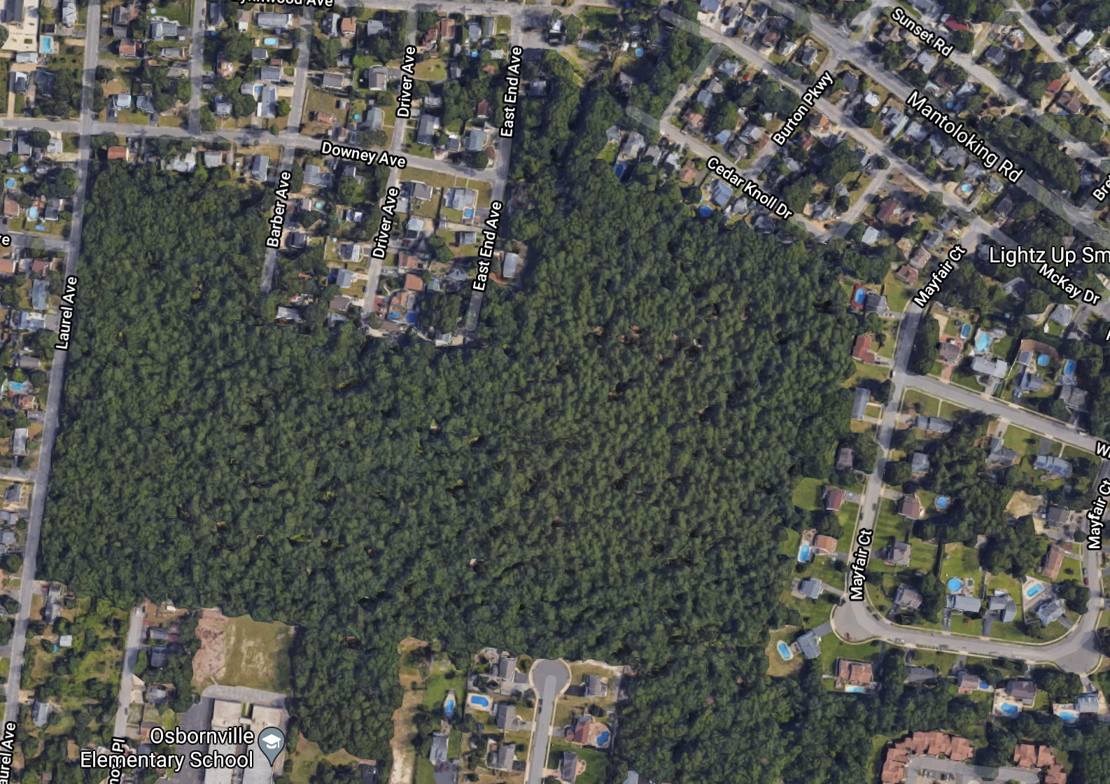A property owned by the Church of Visitation that may be slated for residential development. (Credit: Google Maps)
