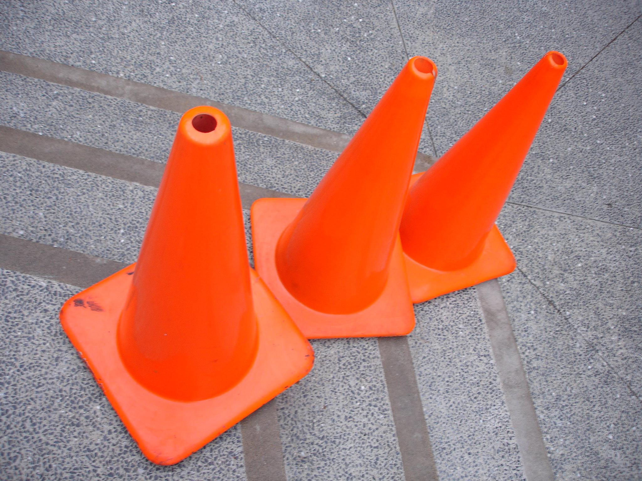 Traffic cones. (Credit: Matthew Robinson/ Flickr)