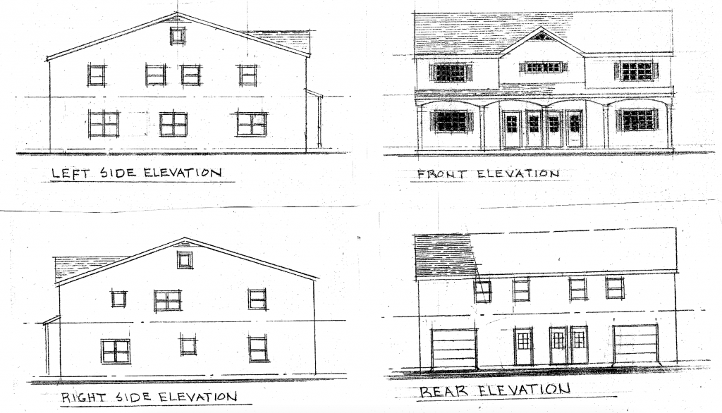A rendering of the proposed construction at 251 Drum Point Road. (Planning Documents)