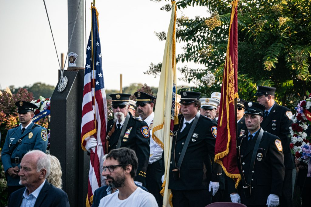Brick Township holds its annual 9/11 memorial, marking 20 years since the Sept. 11 attacks, Sept. 11, 2021. (Photo: Daniel Nee)