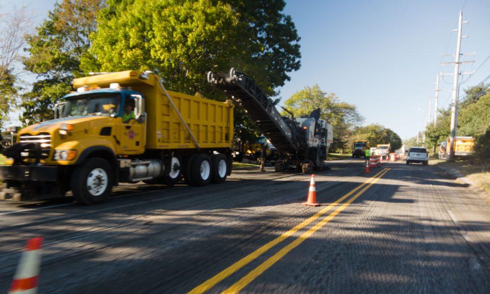 Construction on Herbertsville Road, Oct. 19, 2021. (Photo: Daniel Nee)